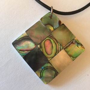 Jewelry - Abalone Pendant and Cord Necklace